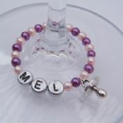 Baby Dummy Personalised Wine Glass Charm - Full Bead Style